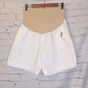 Old Navy Maternity White Jean Shorts Sz. 14